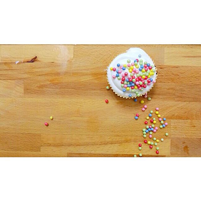 Il mio cupcake. (L'ho fatto io, giuro)